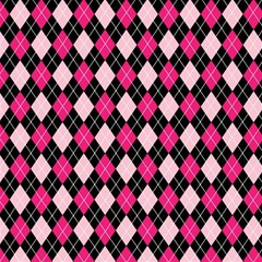 Argyle Pattern Pink Black Magic Photo Cubes