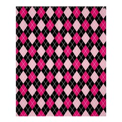 Argyle Pattern Pink Black Shower Curtain 60  x 72  (Medium)