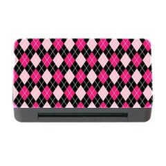 Argyle Pattern Pink Black Memory Card Reader with CF