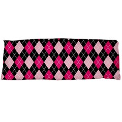 Argyle Pattern Pink Black Body Pillow Case Dakimakura (Two Sides)