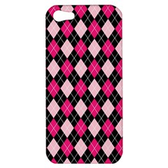 Argyle Pattern Pink Black Apple iPhone 5 Hardshell Case