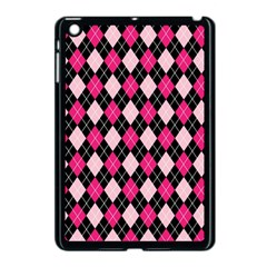 Argyle Pattern Pink Black Apple iPad Mini Case (Black)