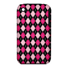 Argyle Pattern Pink Black iPhone 3S/3GS