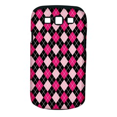 Argyle Pattern Pink Black Samsung Galaxy S III Classic Hardshell Case (PC+Silicone)