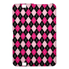 Argyle Pattern Pink Black Kindle Fire HD 8.9