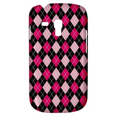 Argyle Pattern Pink Black Galaxy S3 Mini