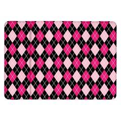 Argyle Pattern Pink Black Samsung Galaxy Tab 8.9  P7300 Flip Case