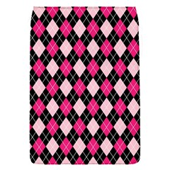 Argyle Pattern Pink Black Flap Covers (S)