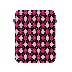 Argyle Pattern Pink Black Apple iPad 2/3/4 Protective Soft Cases