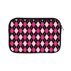 Argyle Pattern Pink Black Apple iPad Mini Zipper Cases