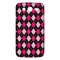Argyle Pattern Pink Black Samsung Galaxy Mega 5.8 I9152 Hardshell Case