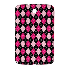 Argyle Pattern Pink Black Samsung Galaxy Note 8.0 N5100 Hardshell Case