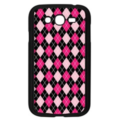 Argyle Pattern Pink Black Samsung Galaxy Grand DUOS I9082 Case (Black)