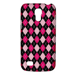 Argyle Pattern Pink Black Galaxy S4 Mini