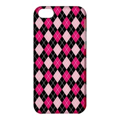 Argyle Pattern Pink Black Apple iPhone 5C Hardshell Case