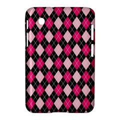 Argyle Pattern Pink Black Samsung Galaxy Tab 2 (7 ) P3100 Hardshell Case