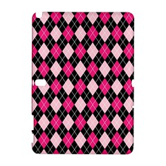 Argyle Pattern Pink Black Galaxy Note 1