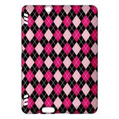 Argyle Pattern Pink Black Kindle Fire HDX Hardshell Case