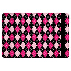 Argyle Pattern Pink Black iPad Air Flip