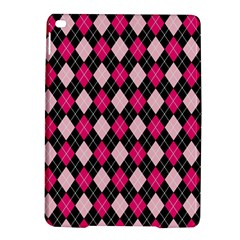 Argyle Pattern Pink Black iPad Air 2 Hardshell Cases