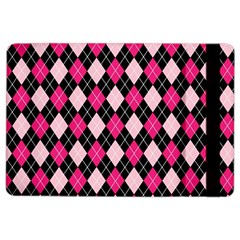 Argyle Pattern Pink Black iPad Air 2 Flip
