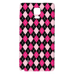 Argyle Pattern Pink Black Galaxy Note 4 Back Case