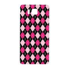 Argyle Pattern Pink Black Samsung Galaxy Alpha Hardshell Back Case