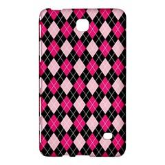Argyle Pattern Pink Black Samsung Galaxy Tab 4 (7 ) Hardshell Case