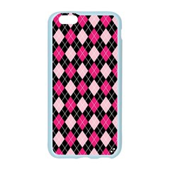 Argyle Pattern Pink Black Apple Seamless iPhone 6/6S Case (Color)