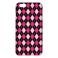 Argyle Pattern Pink Black iPhone 6 Plus/6S Plus TPU Case