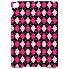 Argyle Pattern Pink Black Apple iPad Pro 9.7   Hardshell Case