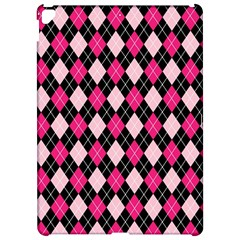 Argyle Pattern Pink Black Apple iPad Pro 12.9   Hardshell Case