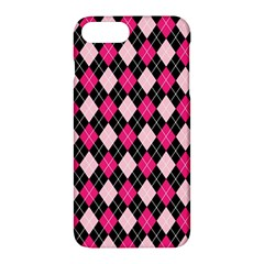 Argyle Pattern Pink Black Apple iPhone 7 Plus Hardshell Case