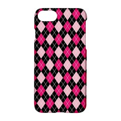 Argyle Pattern Pink Black Apple iPhone 7 Hardshell Case