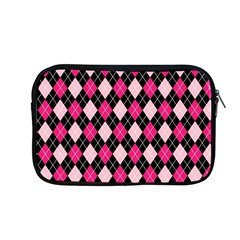 Argyle Pattern Pink Black Apple MacBook Pro 13  Zipper Case