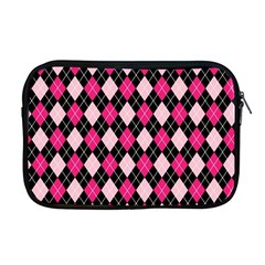 Argyle Pattern Pink Black Apple MacBook Pro 17  Zipper Case