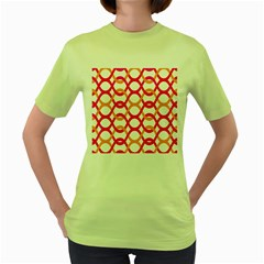 Background Abstract Women s Green T-Shirt