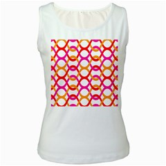 Background Abstract Women s White Tank Top