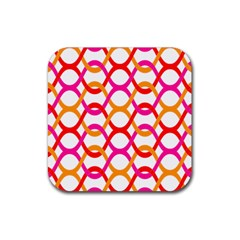 Background Abstract Rubber Square Coaster (4 pack)