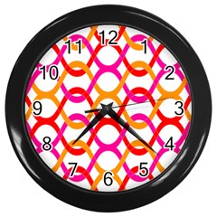 Background Abstract Wall Clocks (Black)