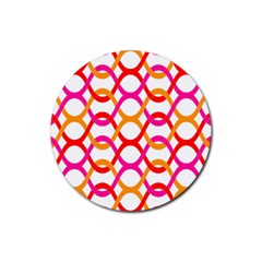 Background Abstract Rubber Coaster (Round)