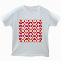 Background Abstract Kids White T-Shirts