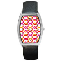 Background Abstract Barrel Style Metal Watch