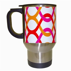Background Abstract Travel Mugs (White)