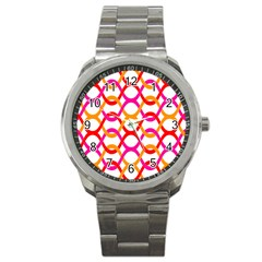 Background Abstract Sport Metal Watch