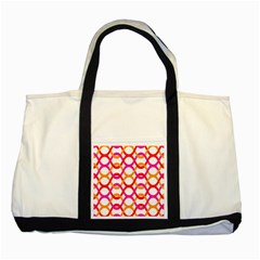Background Abstract Two Tone Tote Bag