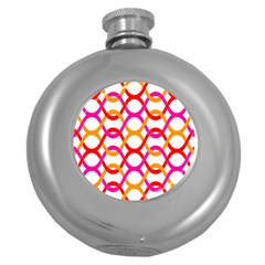 Background Abstract Round Hip Flask (5 oz)