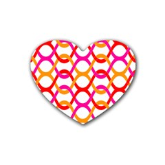 Background Abstract Heart Coaster (4 pack)
