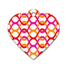 Background Abstract Dog Tag Heart (One Side)