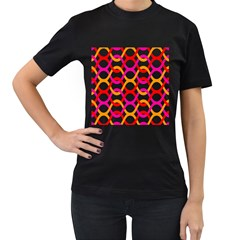 Background Abstract Women s T-Shirt (Black)